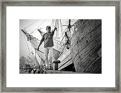 \hey!\ Framed Print