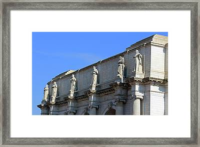 Hey Is That Joe Biden One Statue Said To Another At Union Station Framed Print