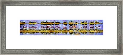 10975 Hey Jude By The Beatles With Lyrics Framed Print