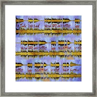 10976 Hey Jude By The Beatles Sq Framed Print