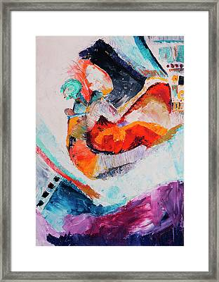 Hey Mr. Spaceman Framed Print by Stephen Anderson