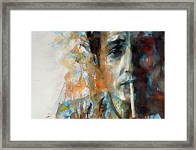 Hey Mr Tambourine Man @ Full Composition Framed Print by Paul Lovering