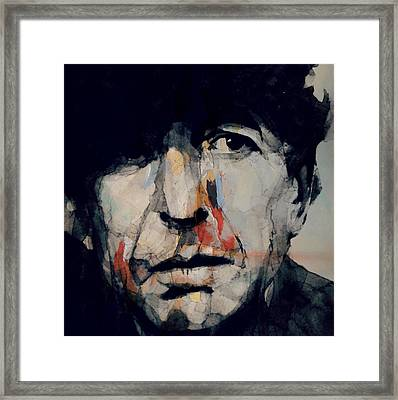 Hey That's No Way To Say Goodbye - Leonard Cohen Framed Print