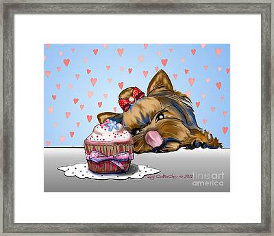 Hey There Cupcake Framed Print by Catia Cho