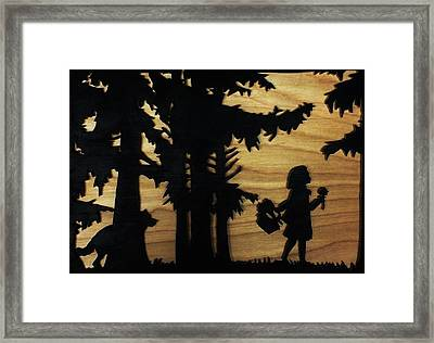 Hey There Little Red Riding Hood Framed Print by Michael Bergman