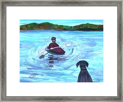 Framed Print featuring the painting Hey Where You Going  by Donna Walsh