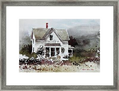 Heyl House, Minneapolis, Kansas Framed Print by Monte Toon
