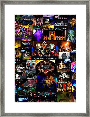 Hhn 26 Remembering The Horror Poster B Framed Print by David Lee Thompson