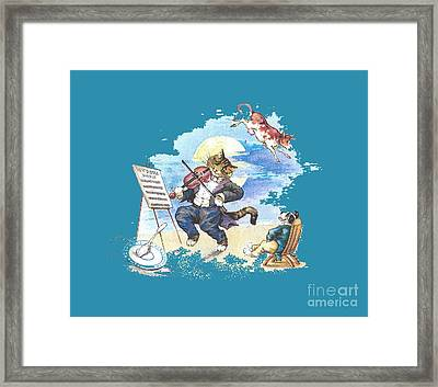 Hi Diddle Diddle T-shirt Framed Print by Herb Strobino