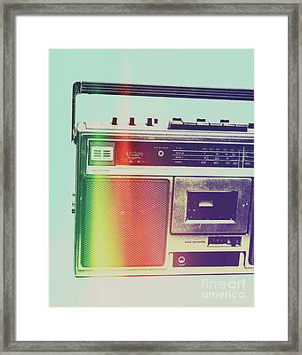 Hi-fi Pop Framed Print