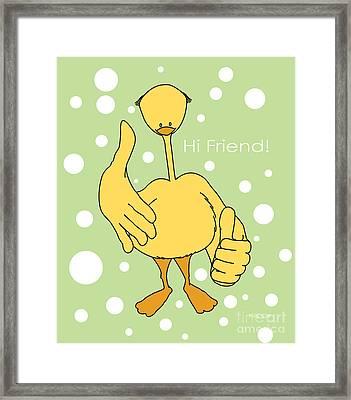 Hi Friend Framed Print by Kids Lolll