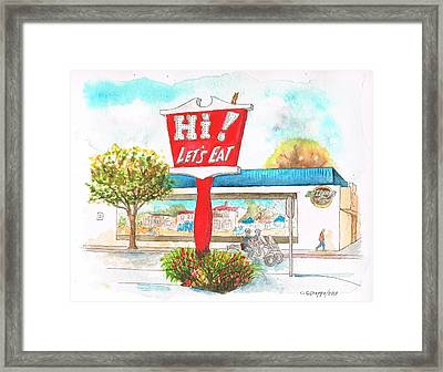 Hi Lets Eat Coffee Shop In Lompoc, California Framed Print