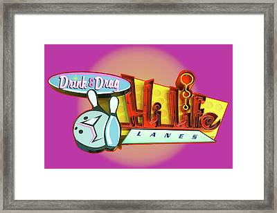 Framed Print featuring the photograph Hi Life Drink And Drag by Jeff Burgess