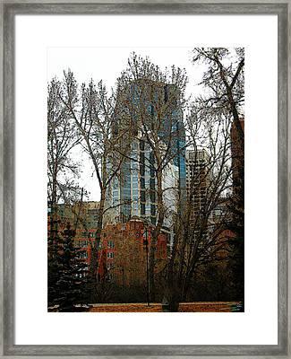 Framed Print featuring the digital art Hi-rise Living  by Stuart Turnbull