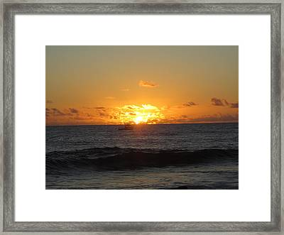 Hi Sunset-1 Framed Print by Ron Smith