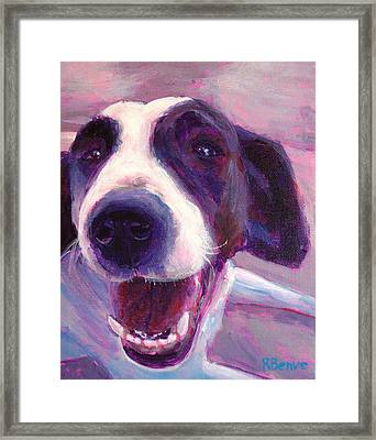 Hi There Doggie Framed Print