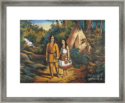Hiawathas Wedding Framed Print by Granger