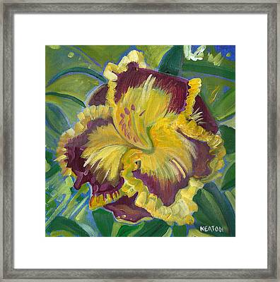 Framed Print featuring the painting Hibiscus 2 by John Keaton