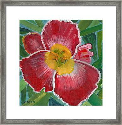 Framed Print featuring the painting Hibiscus 3 by John Keaton