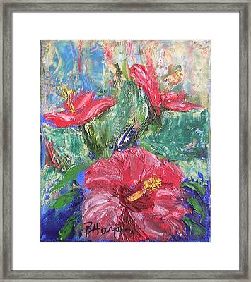 Hibiscus Abstract Framed Print by Barbara Harper