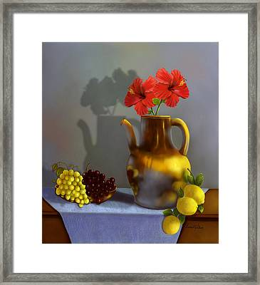 Hibiscus And Friends Framed Print by Sena Wilson