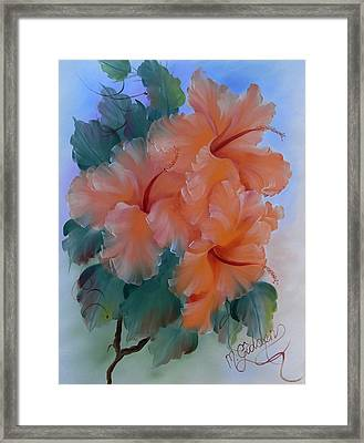 Hibiscus Delight Framed Print by Micheal Giddens
