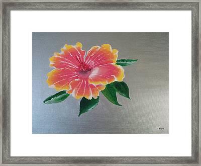 Hibiscus Flower Framed Print by Nura Abuosba