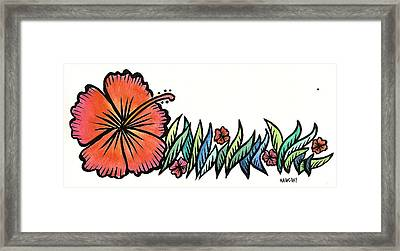 Hibiscus Guam 2009 Framed Print by Marconi Calindas