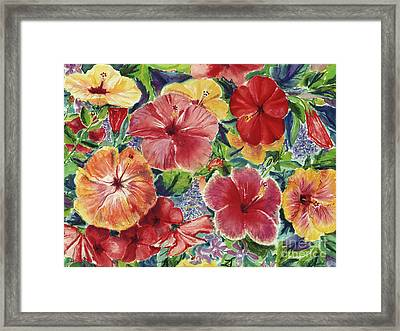 Hibiscus Impressions Framed Print by Patti Bruce - Printscapes