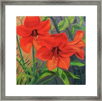 Hibiscus Framed Print by Jane  Simonson