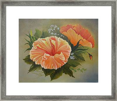 Hibiscus  Framed Print by Joan Taylor-Sullivant
