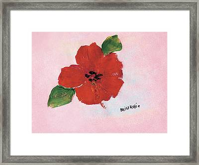 Hibiscus Framed Print by Katie OBrien - Printscapes