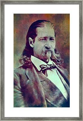 Hickok Painterly Framed Print by Daniel Hagerman