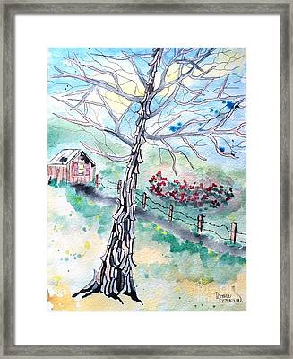 Framed Print featuring the painting Hickory by Denise Tomasura