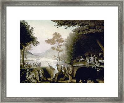 Hicks: Peaceable Kingdom Framed Print