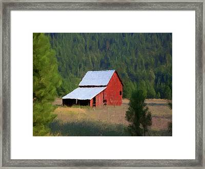 Framed Print featuring the painting Hidden Away P D P by David Dehner