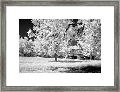 Hidden Barn Framed Print by James Barber