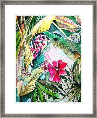 Hidden Beauty Framed Print