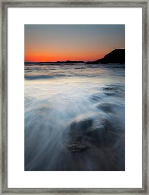 Hidden Beneath The Tides Framed Print by Mike  Dawson