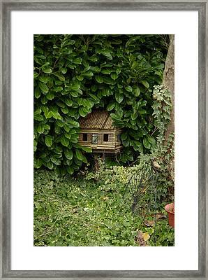 Hidden Birdhouse Framed Print