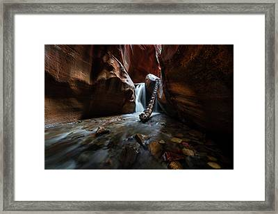 Hidden Canyon Framed Print by Larry Marshall
