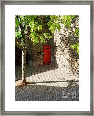Hidden Door In The Old Town Wall Maastricht Netherlands Framed Print