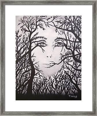 Hidden Face Framed Print by Teresa Wing