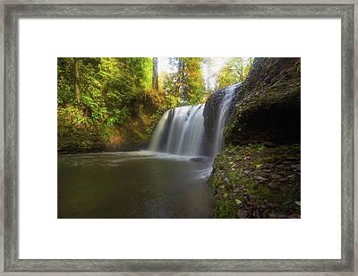 Hidden Falls In Rock Creek Framed Print by David Gn