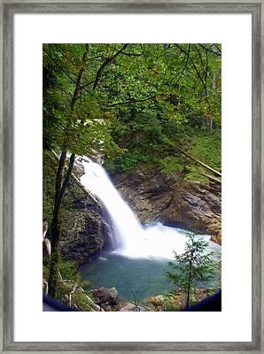 Hidden Falls Framed Print by Marty Koch