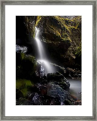 Hidden Falls Framed Print by Mike  Dawson