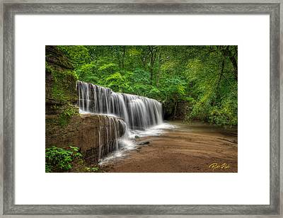Hidden Falls  Framed Print by Rikk Flohr