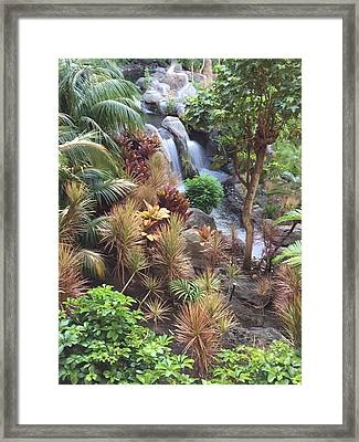 Hidden Falls Framed Print by Russell Keating