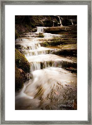 Hidden Falls Framed Print by Tamyra Ayles