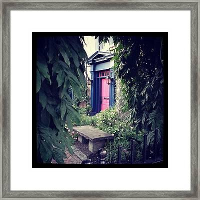 Hidden Garden Door Framed Print